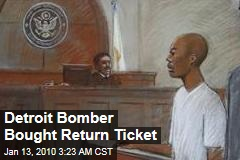 Detroit Bomber Bought Return Ticket