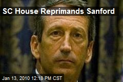 SC House Reprimands Sanford