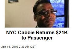 NYC Cabbie Returns $21K to Passenger