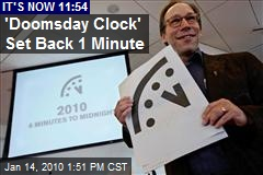 'Doomsday Clock' Set Back 1 Minute