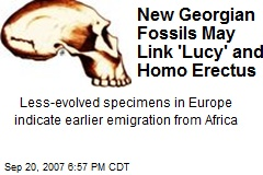 New Georgian Fossils May Link 'Lucy' and Homo Erectus
