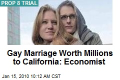 Gay Marriage Worth Millions to California: Economist