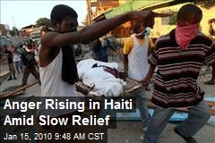 Anger Rising in Haiti Amid Slow Relief