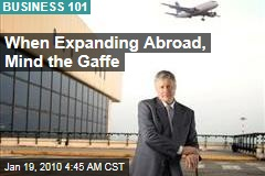 When Expanding Abroad, Mind the Gaffe
