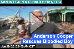 Anderson Cooper Rescues Bloodied Boy