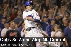 Cubs Sit Alone Atop NL Central