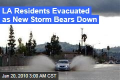 LA Residents Evacuated as New Storm Bears Down
