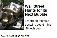 Wall Street Hunts for Its Next Bubble