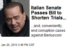 Italian Senate Passes Bill to Shorten Trials...