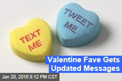 Valentine Fave Gets Updated Messages