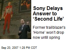 Sony Delays Answer to 'Second Life'