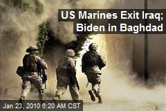 US Marines Exit Iraq; Biden in Baghdad