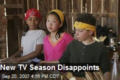 New TV Season Disappoints