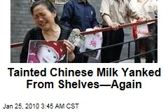 Melamine-Tainted Milk Yanked From China Shelves