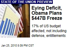 Eying Deficit, Obama Plans $447B Freeze
