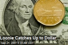 Loonie Catches Up to Dollar