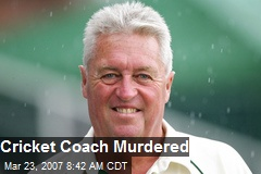 Cricket Coach Murdered