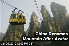China Renames Mountain After Avatar