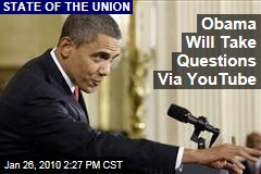 Obama Will Take Questions Via YouTube