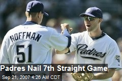 Padres Nail 7th Straight Game