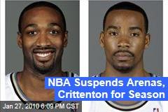 NBA Suspends Arenas, Crittenton for Season