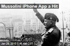 Mussolini iPhone App a Hit