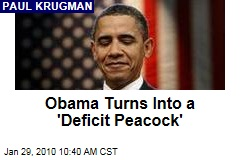 Obama Turns Into a 'Deficit Peacock'