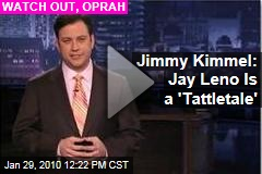 Jimmy Kimmel: Jay Leno Is a 'Tattletale'