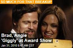 Brad, Angie 'Giggly' at Award Show