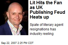 Lit Hits the Fan as UK Publishing Feud Heats up