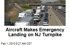 Aircraft Makes Emergency Landing on NJ Turnpike