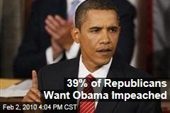 39% of Republicans Want Obama Impeached