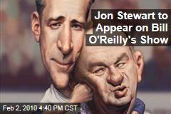 Jon Stewart to Appear on Bill O'Reilly's Show