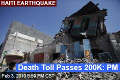Death Toll Passes 200K: PM