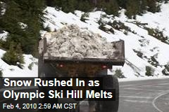 Snow Rushed In as Olympic Ski Hill Melts