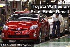 Toyota Waffles on Prius Brake Recall