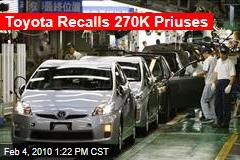 Toyota Recalls 270K Priuses