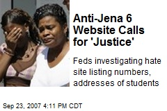 Anti-Jena 6 Website Calls for 'Justice'