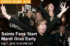 Saints Fans Start Mardi Gras Early