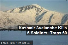 Kashmir Avalanche Kills 6 Soldiers, Traps 60