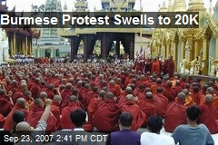 Burmese Protest Swells to 20K
