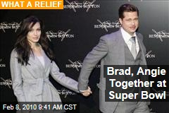Brad, Angie Together at Super Bowl