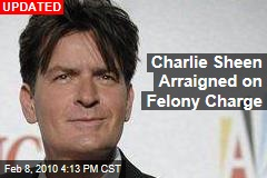 Charlie Sheen Arraigned on Felony Charge