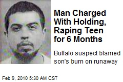 Man Charged With Holding, Raping Teen for 6 Months