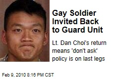 Gay Soldier Invited Back to Guard Unit