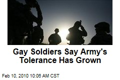 Gay Soldiers Say Army's Tolerance Has Grown