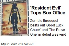 'Resident Evil' Tops Box Office