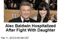 Alec Baldwin Hospitalized After Fight With Daughter