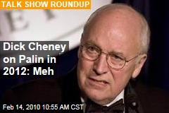 Dick Cheney on Palin in 2012: Meh