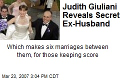 Judith Giuliani Reveals Secret Ex-Husband
